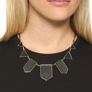 BNWT House of Harlow 14k gold 5 station necklace